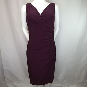 Ralph Lauren Sleeveless V Neck Stretch Dress